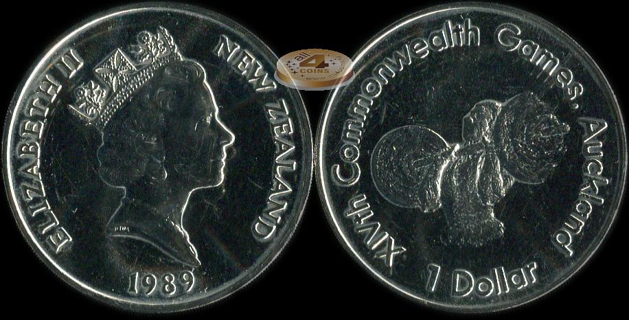 Новая зеландия. 1 доллар. 1989 (unc) купить монеты в интерне.