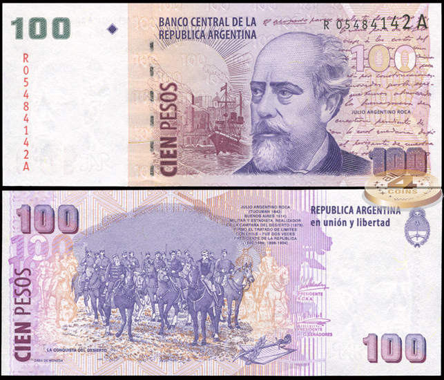 Аргентина. 100 песо (Unc. Replacement) 2003