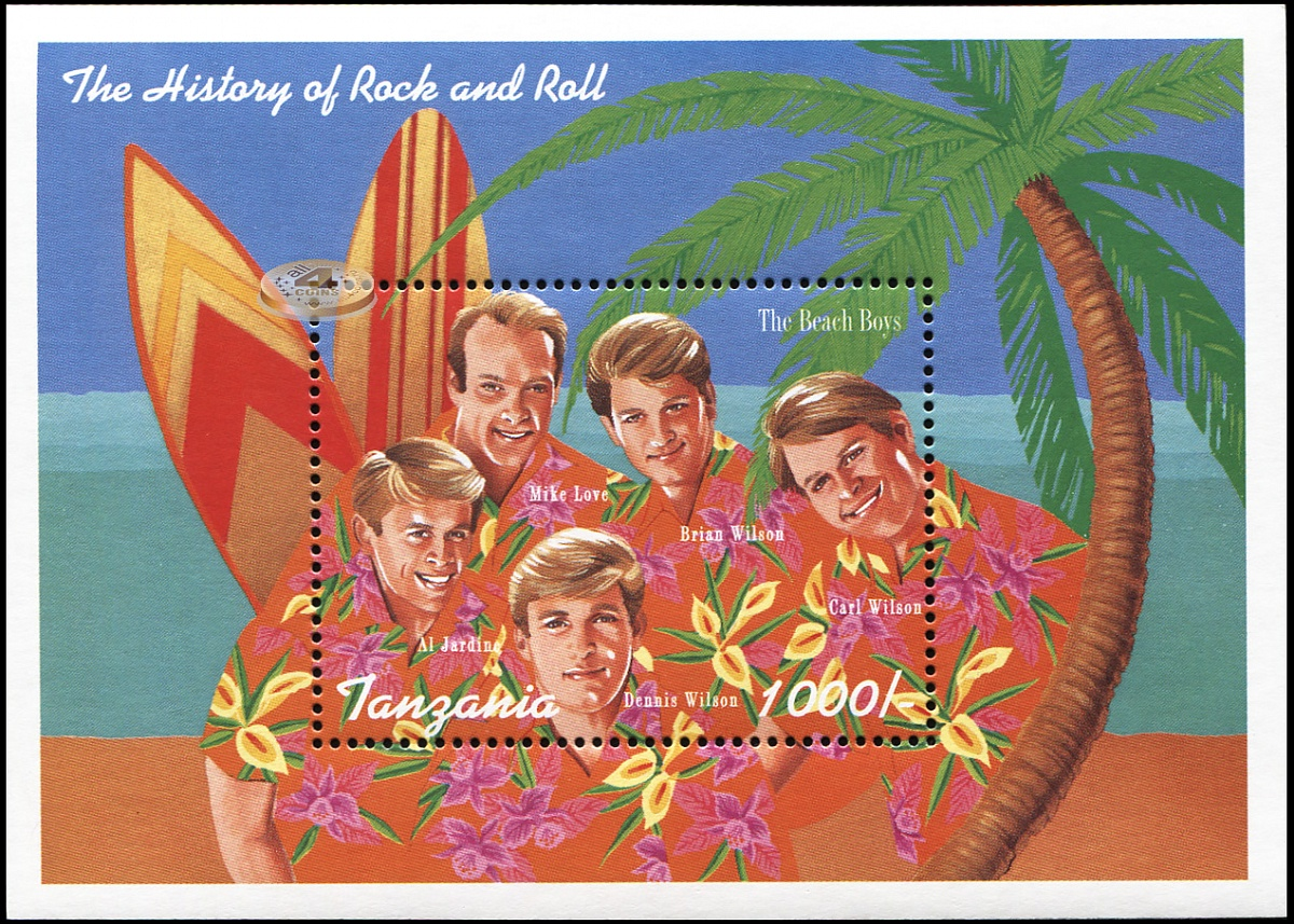 Танзания. 1995. The Beach Boys (Блок. MNH OG)